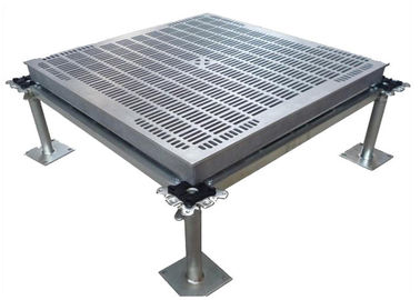 Computer Access Flooring Aluminum Floor Panels Strong Loading Performance