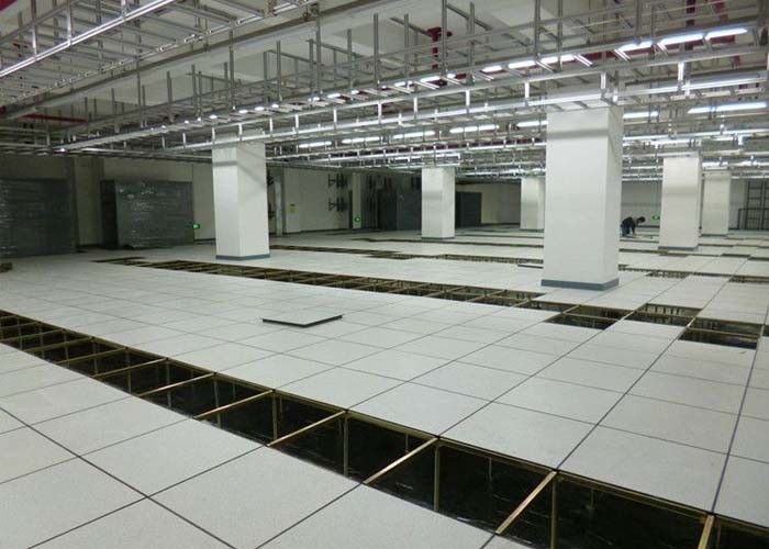 Non - Foaming Anti Static Raised Access Flooring All Steel HPL Finish Raised Floor