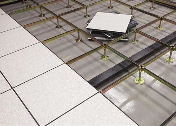 Steel Cement Access OA Floor For Office Area , Excellent Fire Proof Performance